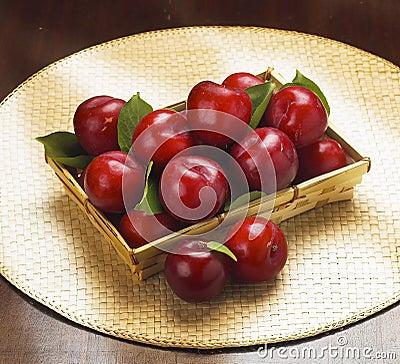 Ameixas de cereja