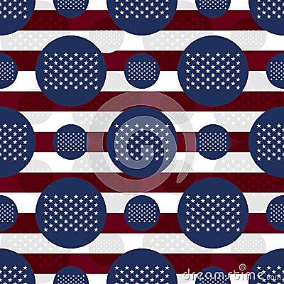 Free America Flag 50 Stars Flag Seamless Pattern Royalty Free Stock Photo - 67328965