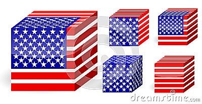 America flag cube