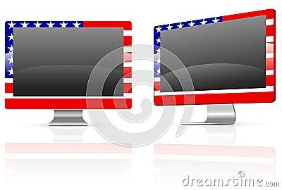 America flag monitor