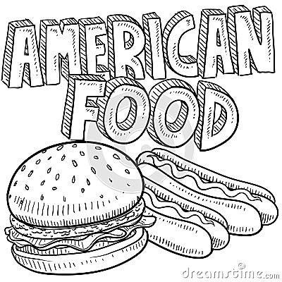 America food sketch