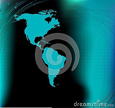 America map silhouette