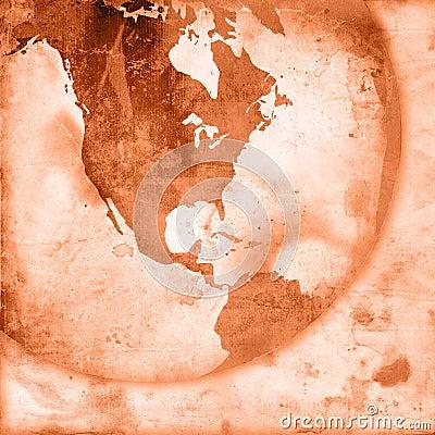 America map-vintage artwork
