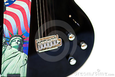 America Rocks - guitar and Statue of Liberty