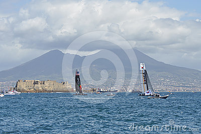 America s Cup 2012 in Naples Editorial Photo