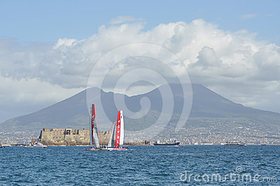 America s Cup 2012 in Naples Editorial Stock Image