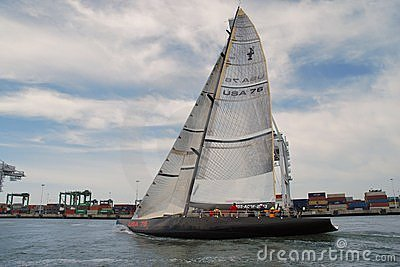 America s Cup Class Yacht USA 76 Editorial Stock Photo