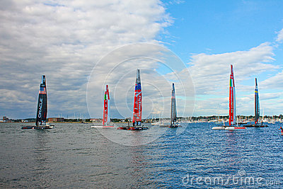 America s Cup World Series, Newport, RI Editorial Image