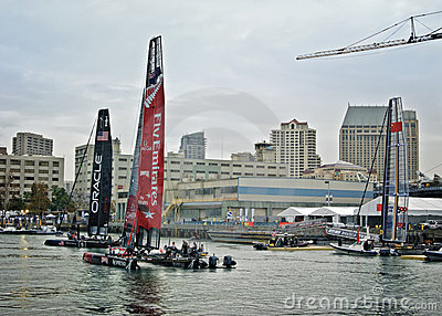 America s Cup World Series, San Diego Editorial Image