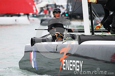 America s Cup World Series Venice - LOICK PEYRON Editorial Photo