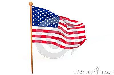 American 3d flag