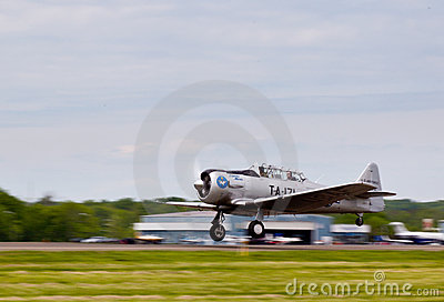 American AT-6 Texan plane Editorial Photo