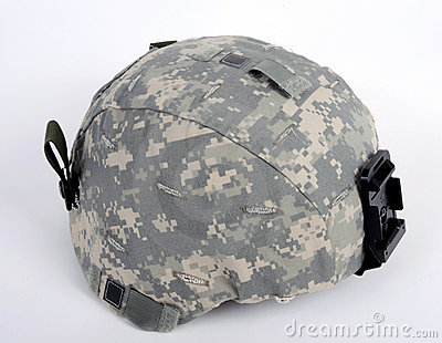 American ACH (Advanced Combat Helmet).