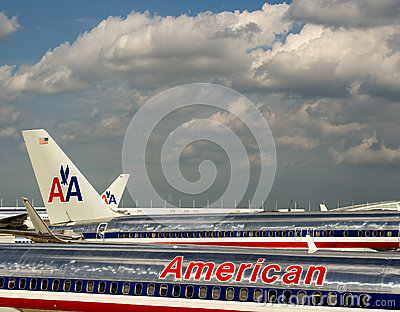 American Airlines Editorial Stock Image