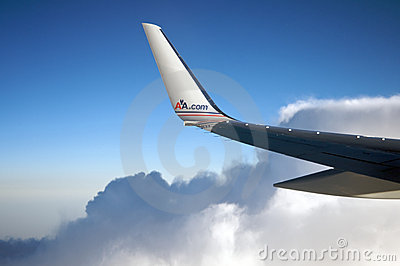 American Airlines plane Editorial Image