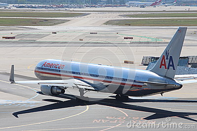American Airlines Plane Editorial Stock Image