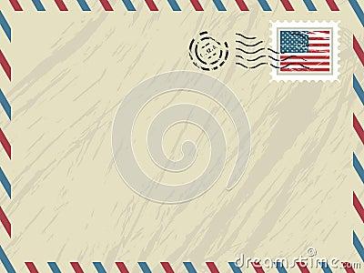 American airmail envelope