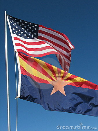 American/Arizona flags