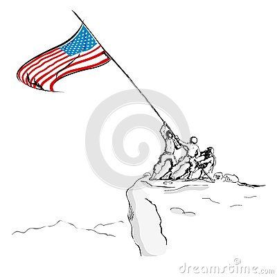 American Army with Flag