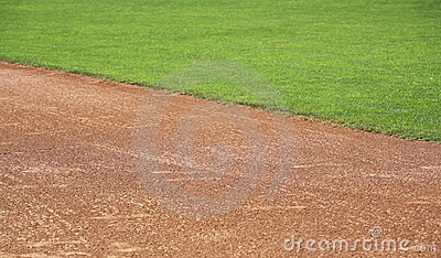 American baseball in-field