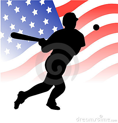 American baseball player vector