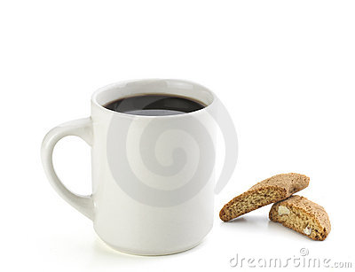American Black Coffee With Cookie