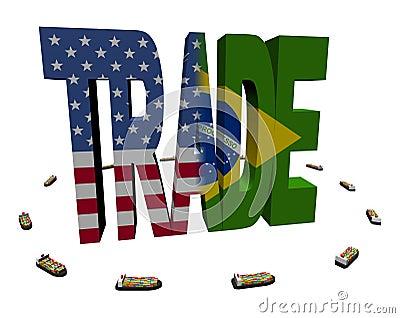 American Brazilian trade with ships