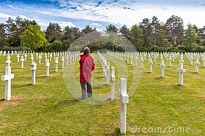 American Cemetery in Normandy.