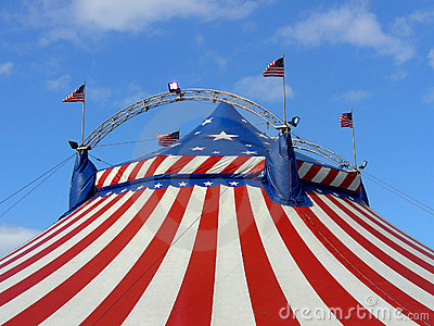 American circus big top tent