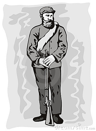 American civil war soldier