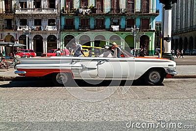 American classic car in Havana Editorial Stock Image