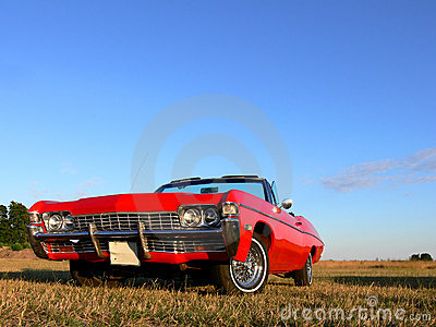 American Classic Car - Red 1970s Convertible