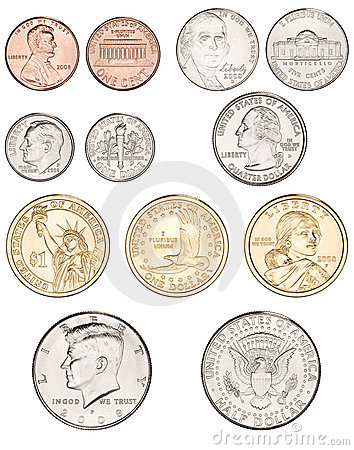 American Coins Background Stock Photos - Image: 15549663