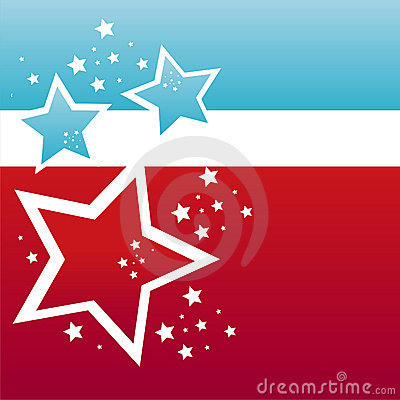 American colored stars background