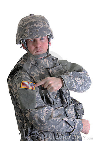 Free American Combat Soldier Royalty Free Stock Images - 1874419