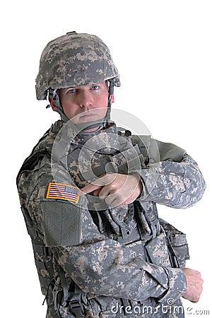 American Combat Soldier