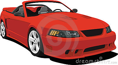 American Convertible Sports Car