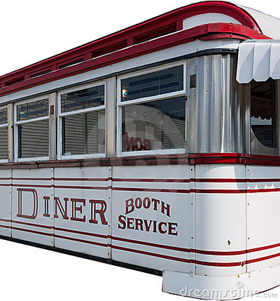 American Diner Isolated