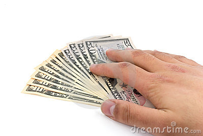 American dollar banknote in the hand