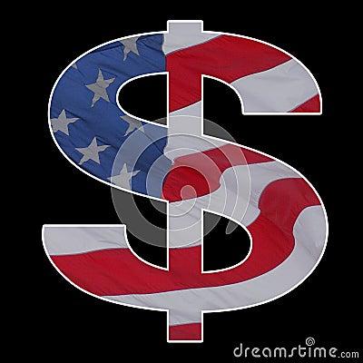 Free American Dollar Flag Sign Stock Image - 17018261