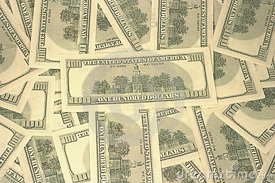 American dollars texture