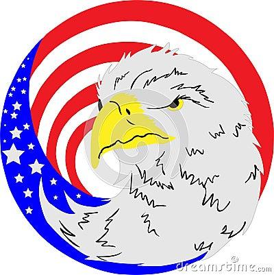 American eagle flag button