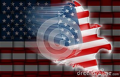 American Eagle flag weaving