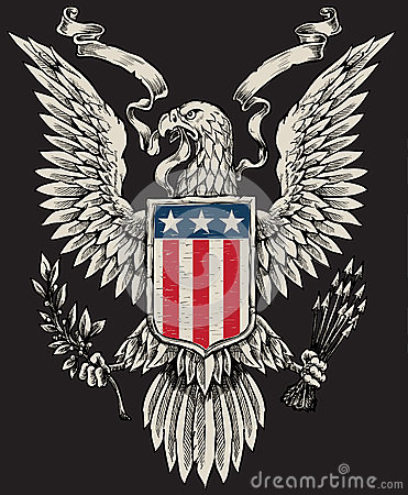 Free American Eagle Linework Vector Royalty Free Stock Images - 31718699