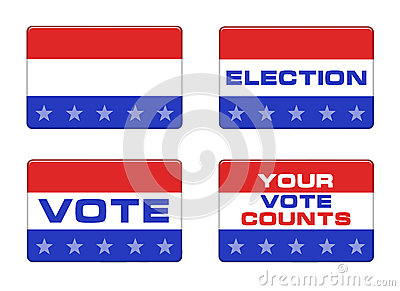 American election button