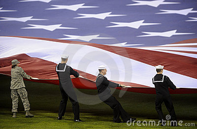 American Flag Editorial Stock Photo
