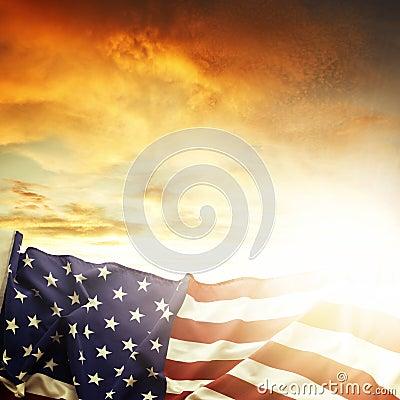 Free American Flag Royalty Free Stock Photos - 36083178