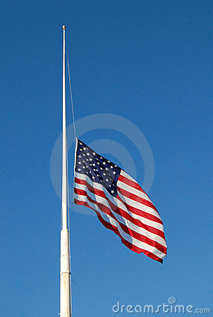Free American Flag At Half Mast Stock Photography - 15009882