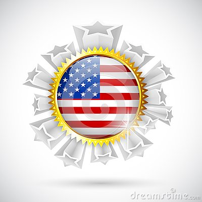 American Flag Badge