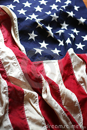 Free American Flag Close Up 4 Stock Image - 2518371